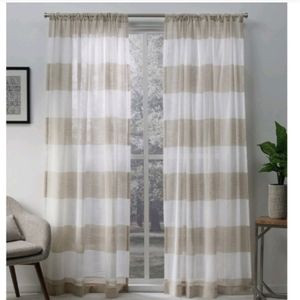 Darma Linen Set Of Two Curtain Panels
